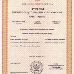 Dyplom Technika BHP