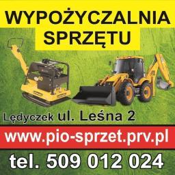 Wypożyczalnia sprzętu budowlanego, ogrodniczego, elektronarzędzi, rusztowań, maszyn budowlanych - Długoterminowy wynajem maszyn budowlanych Lędyczek