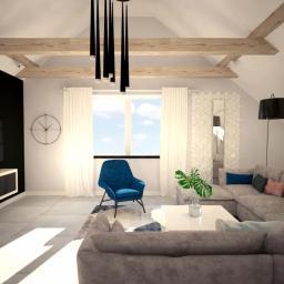 Mieszkanie na poddaszu - salon