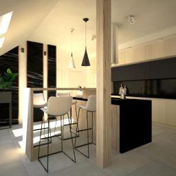 Mieszkanie na poddaszu - kuchnia