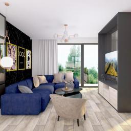 Dom pod Gołdapią - salon