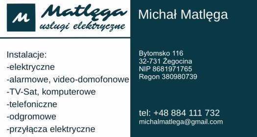 Matlęga Usługi Elektryczne Michał Matlęga - Domofony, wideofony Bytomsko