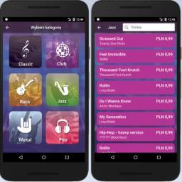 JukeBox - mobilna szafa grająca, przeznaczona do odtwarzania muzyki realizowana na zlecenie klubu tanecznego. Aplikacja pozwala Klientom zamawiać wybrane utwory dostępne w na komputerze w klubie.