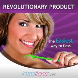 Introfloss - dental floss holder - uchwyt do nitki dentystycznej