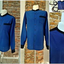 Męska koszula propozycja w odcieniach niebieskich