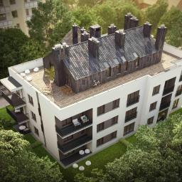 Budynek wielorodzinny- na dachu dwa mieszkania z przestronnymi tarasami