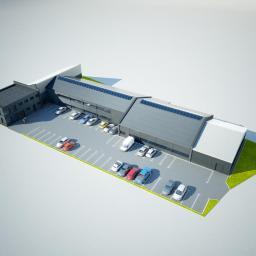 Budynek produkcyjno-magazynowy PU=1700m2