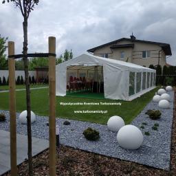 Namiot cateringowy 6x12 z podłogą na imprezę okolicznościową