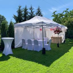 Namiot ekspresowy 3x6. Impreza w ogrodzie do maksymalnie 20 osób.