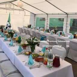 Namiot cateringowy 5x10 z wyposażeniem. Pierwsza Komunia Święta. Uroczystość do 50 osób.