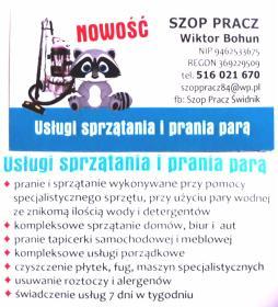 Szop Pracz Wiktor Bohun - Sprzątanie Świdnik