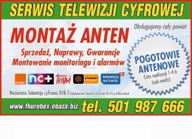 Montaż Anten 501987666 - Firmy budowlane Nowa Sól