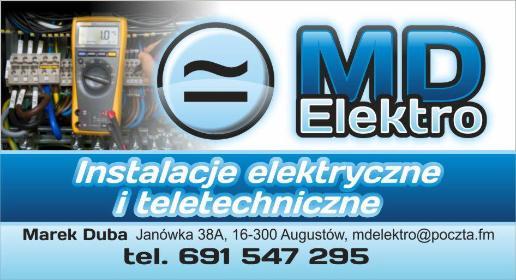 MD Elektro Instalacje elektryczne i teletechniczne Marek Duba - Projektanci Instalacji Elektrycznych Augustów
