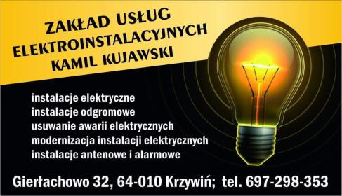 Zaklad Usług Elektroinstalacyjnych - Montaż oświetlenia Krzywiń