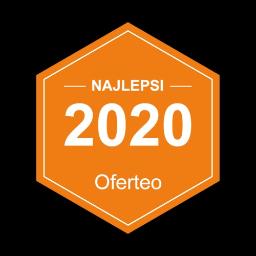 Miło nam poinformować, że otrzymaliśmy nagrodę Najlepsi 2020 za znakomite opinie od naszych Klientów. Dziękujemy za uznanie izachęcamy do przeczytania, co Klienci napisali onas w Oferteo.pl: