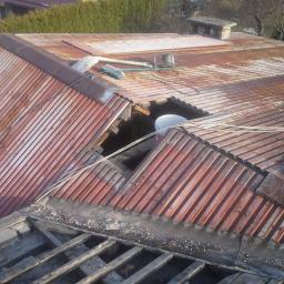 Rozbiórki starych dachów