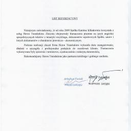 Tłumaczenia dokumentów Siemianowice Śląskie 3