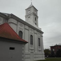 Kościół w Gajkowie - remont elewacji