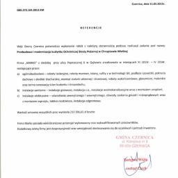 Przebudowa i modernizacja budynku OSP w Chrząstawie Wielkiej - Referencje