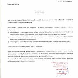 Remont i modernizacja świetlicy wiejskiej w Kamieńcu Wrocławskim - Referencja