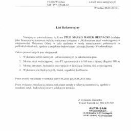 Wykonanie sieci wodociągowej w miejscowości Mokronos Górny - Referencja