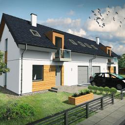 Wizualizacja 3D domu w zabudowie bliźniaczej
