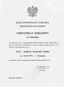 AMS CONSULTING BIURO RACHUNKOWO-DORADCZE ANDRZEJ SZAFER - Sprawozdania Finansowe Poznań