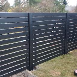 Ogrodzenie nowoczesne-Moderne zaune Profil 100x20mm, rama z tyłu ogrodzenia, słupki 100x100mm