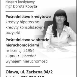 Wasz Ekspert obrót nieruchomościami pośrednictwo kredytowe Dorota Kopyta - Firmy Oława