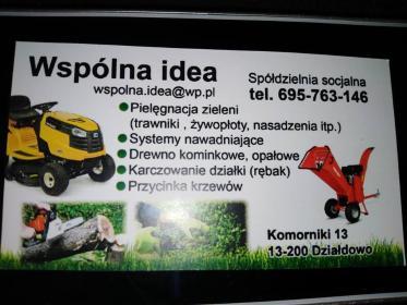 Spółdzielnia Socjalna Wspólna Idea - Prace działkowe Komorniki