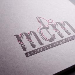 Logo zaprojektowane dla pasmanterii mdm z Kalisza - na druku
