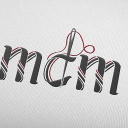 Logo zaprojektowane dla pasmanterii mdm z Kalisza - prezentacja na hafcie