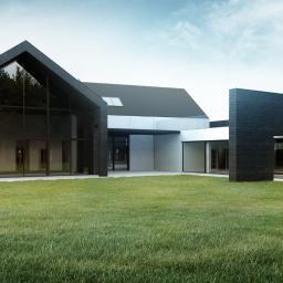 Projekt nowoczesnego budynku jednorodzinnego w Łodzi