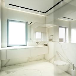 Jasna minimalistyczna łazienka