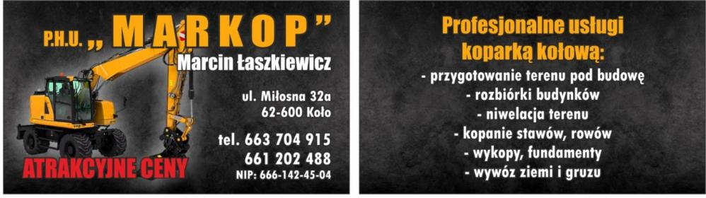 """P.H.U. """"MARKOP"""" Marcin Łaszkiewicz - Usługi Koło"""