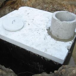 Montaż zbiorników - szamba, oczyszczalnie wraz z podłaczeniem