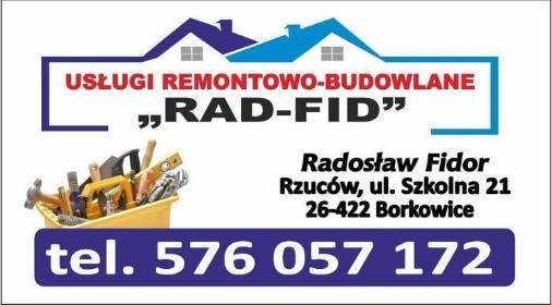 Rad-Fid uslugi remontowo-budowlane - Płyta karton gips Rzuców