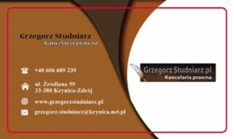 """""""K D P Grzegorz Studniarz"""" - Obsługa prawna firm Krynica-Zdrój"""