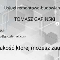 T. Gapinski - Szpachlowanie Ścian Sokołów Małopolski