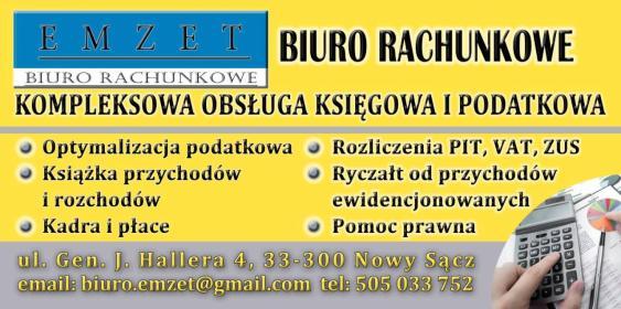 Biuro Rachunkowe EMZET - Biuro rachunkowe Nowy Sącz