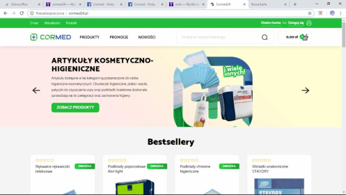 Cormed - Budowa Sklepu Internetowego Tykocin
