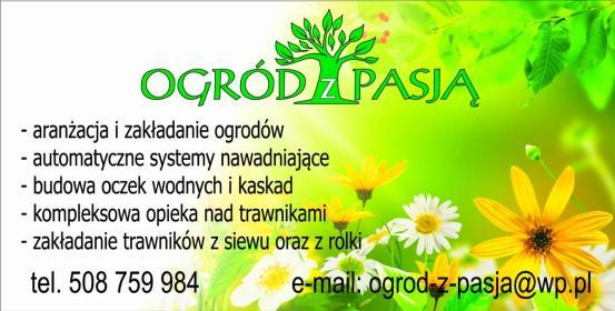 Ogród z pasją - Usługi Jarocin