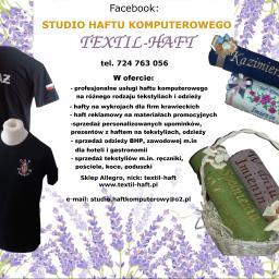 Studio Haftu Komputerowego Textil-Haft - Wyszywanie Napisów Pleszew