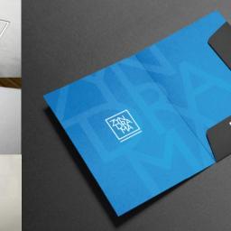 Projekt logotypu i materiałów poligraficznych dla Apartamentów Zyndrama.