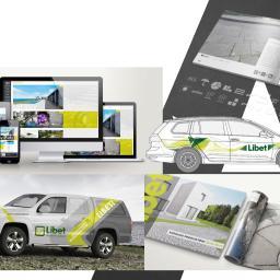 Projekty, skład z przygotowaniem do druku materiałów promocyjnych i wizerunkowych wraz z budową serwisów internetowych dla LIBET S.A.