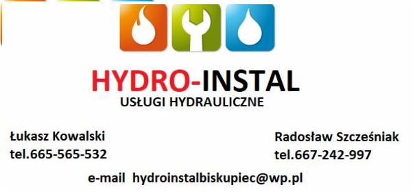 Radosław Szcześniak Usługi Hydrauliczne NIP 7392777387 REGON 381OO3339 11-300 BISKUPIEC Ul.Aleja - Hydraulika Biskupiec