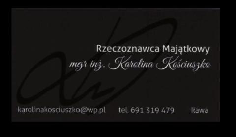 Rzeczoznawca Majątkowy inż. mgr Karolina Kościuszko - Wycena nieruchomości Iława