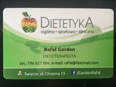 Dietoterapeuta Rafał Gordon - Dietetyk Świecie