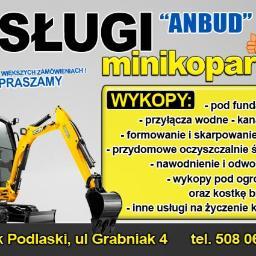ANBUD Usługi Mini Koparką i Budowlane Sylwia Oksientiuk - Projektowanie ogrodów Bielsk Podlaski