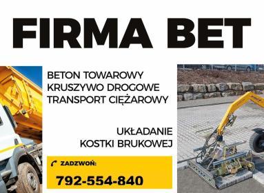 BET brukarstwo maszynowe - przemysłowe - Układanie kostki granitowej Wrocław